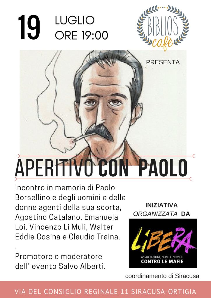 aperitivo con Paolo borsellino